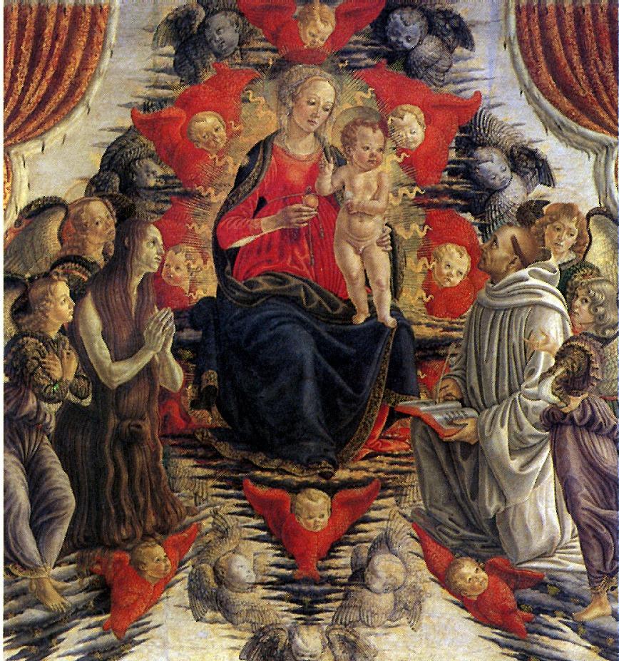 Francesco Botticini. Madonna and child with Saint Mary Magdalene