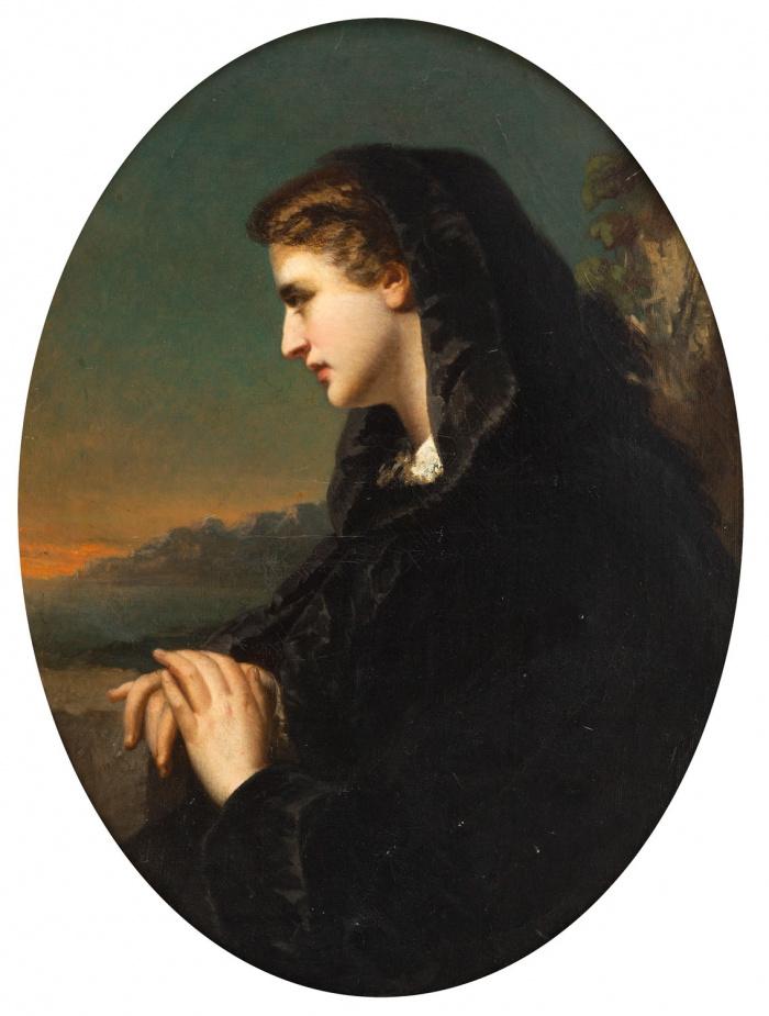 Франц Ксавер Винтерхальтер. Портрет женщины