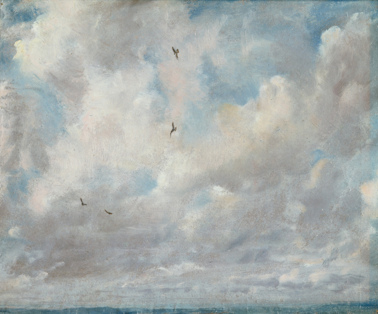 John Constable. Clouds and birds. Etude