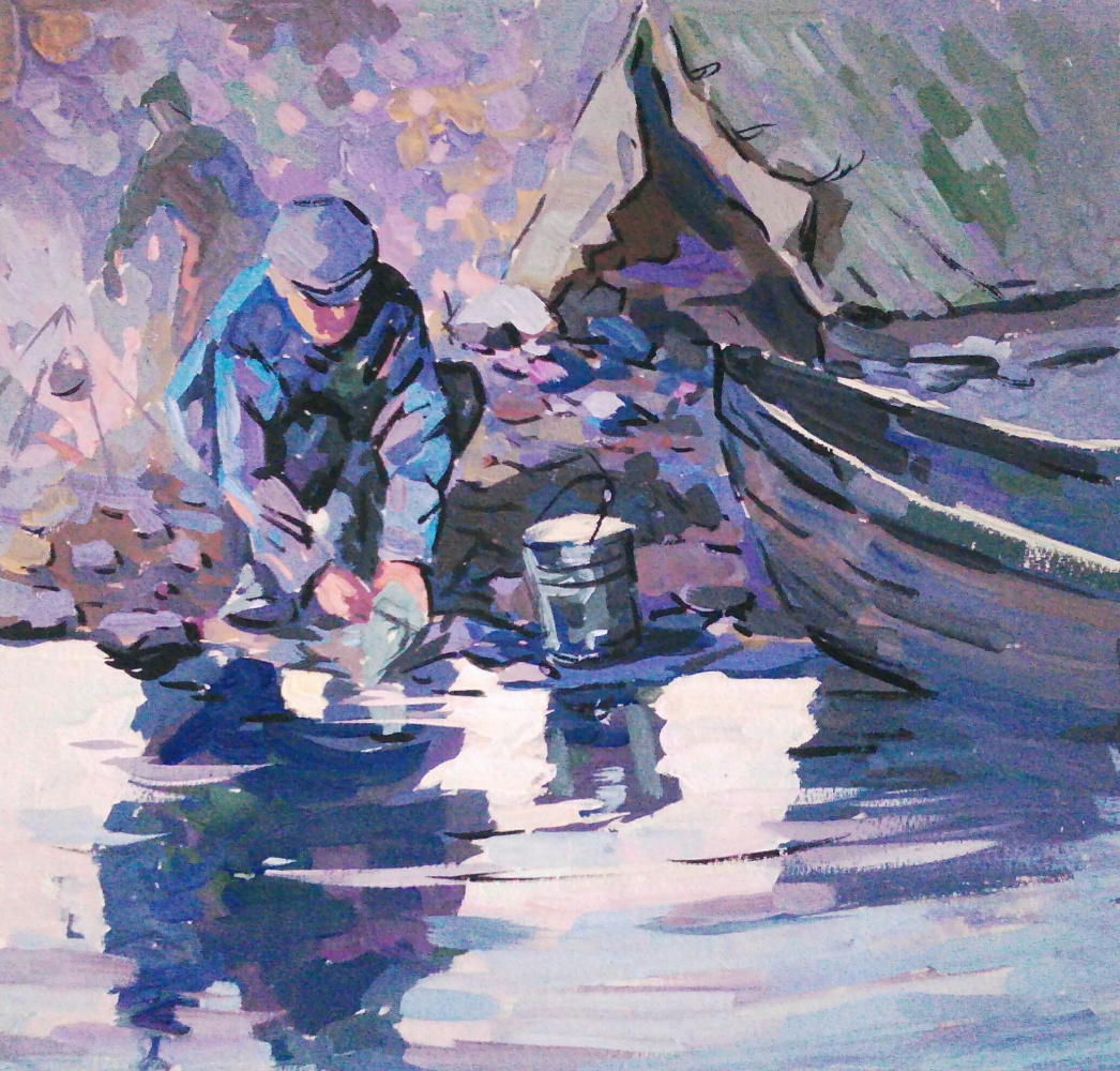 Vladimir Kuzmich Vorokhobin. Fisherman