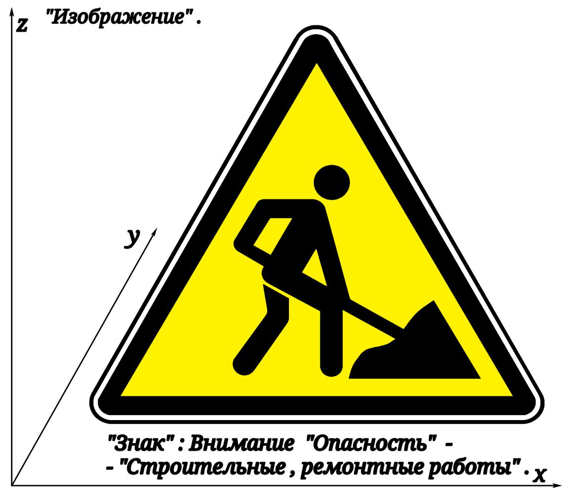 "Arthur Gabdrupes. ""Picture"" : ""Sign"" ; Attention ""Danger"" - ""Construction, repair work"" ."