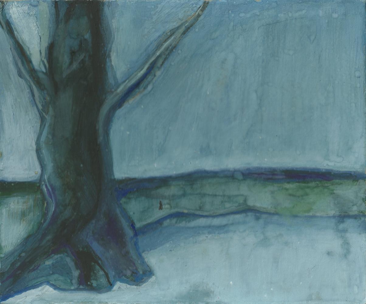 Alexandr Glukhov. Lonely tree, winter