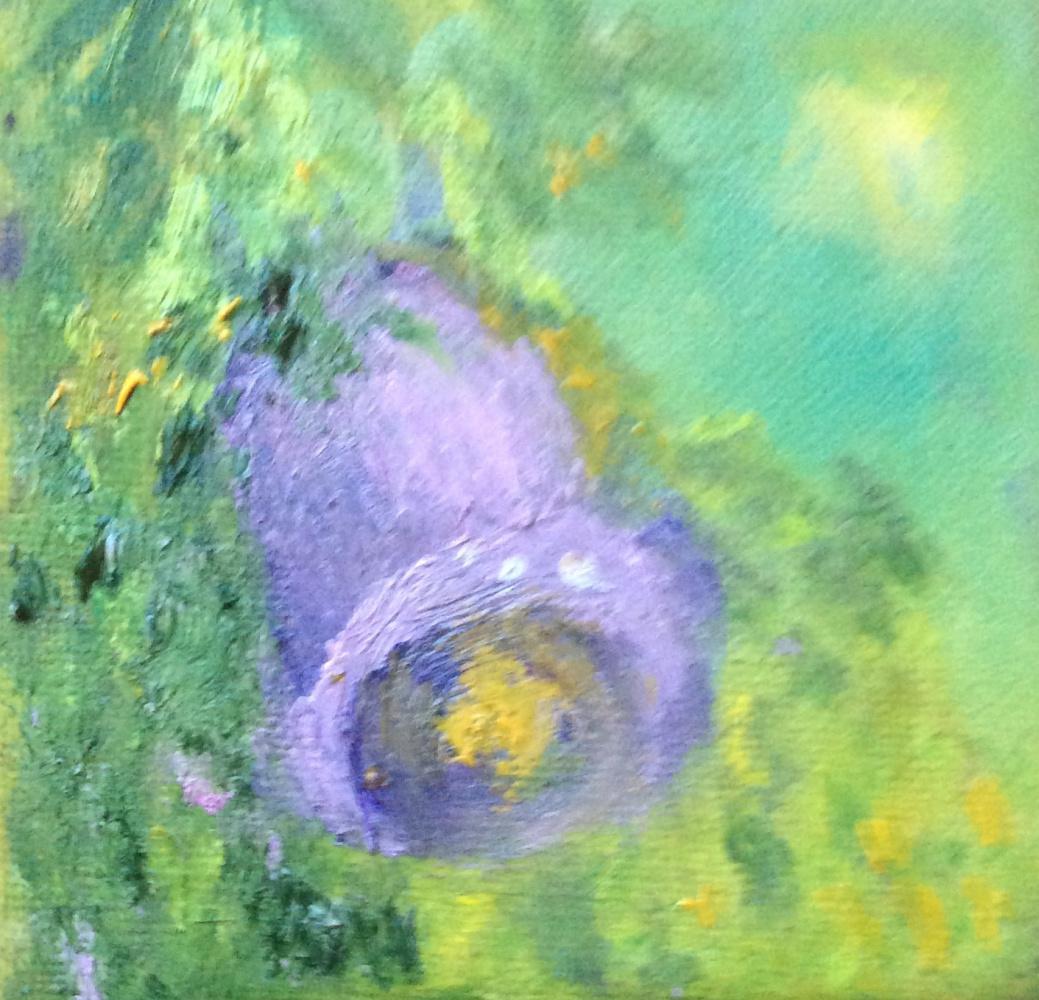 "Rita Arkadievna Beckman. Series ""Portraits of favorite flowers"". The bell rings"