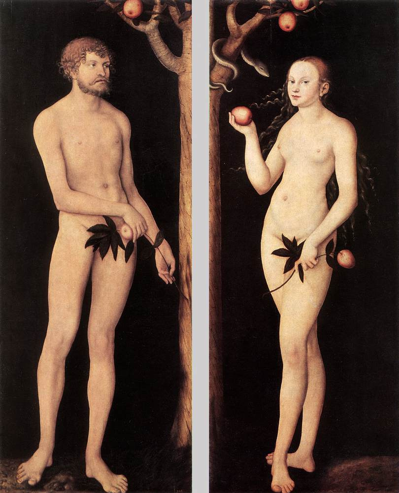 Лукас Кранах Старший. Адам и Ева 1531