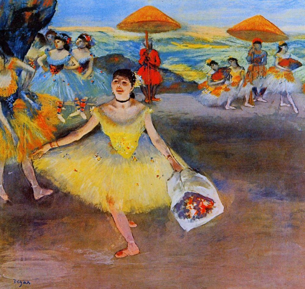 Эдгар Дега. Кланяющаяся балерина с букетом