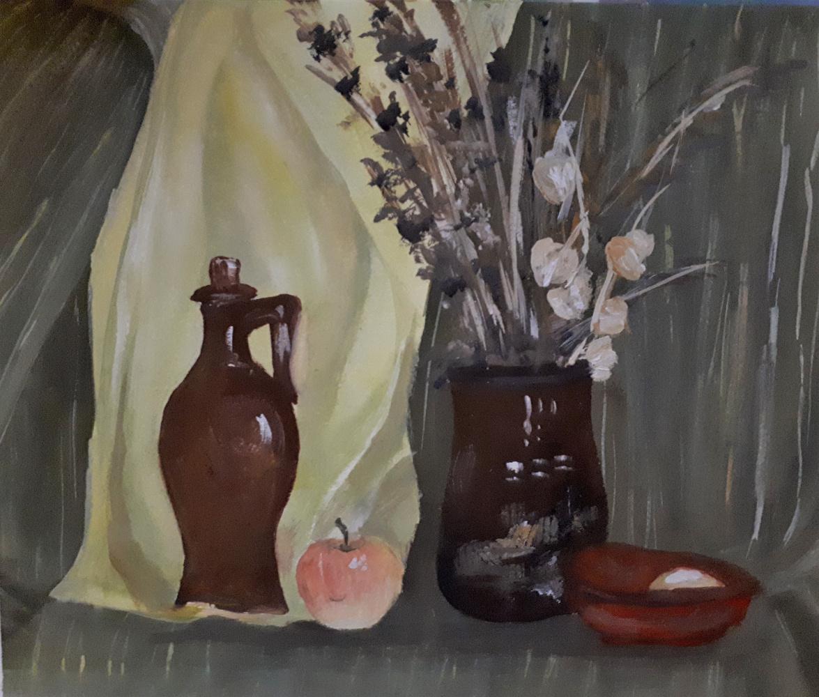 Vasilisa Nikonorova. Still life with dry flowers