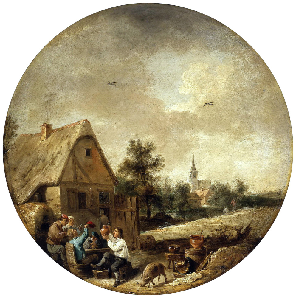David Teniers the Younger. Landscape with a rustic zucchini