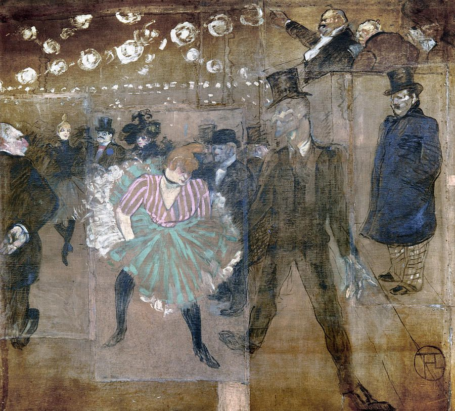 Henri de Toulouse-Lautrec. The Danse of La Goulue and Jacques Renaudin