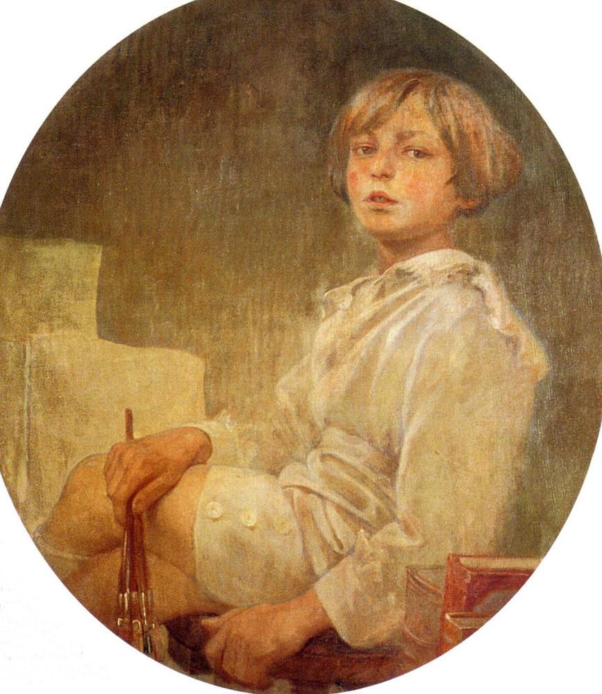 Alfonse Mucha. Portrait of Jiri, the artist's son