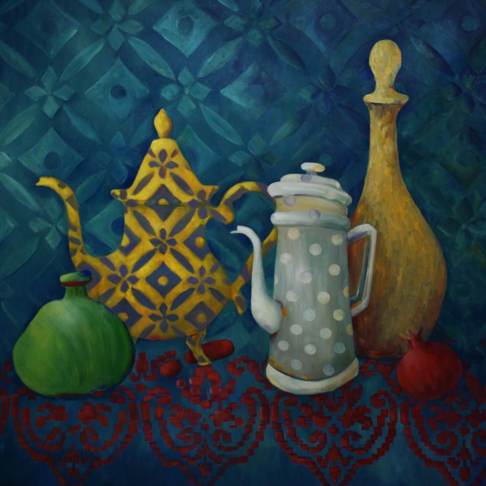 Marina Venediktova. Jugs - Not Jugs  1, 80*80 cm, original oil painting