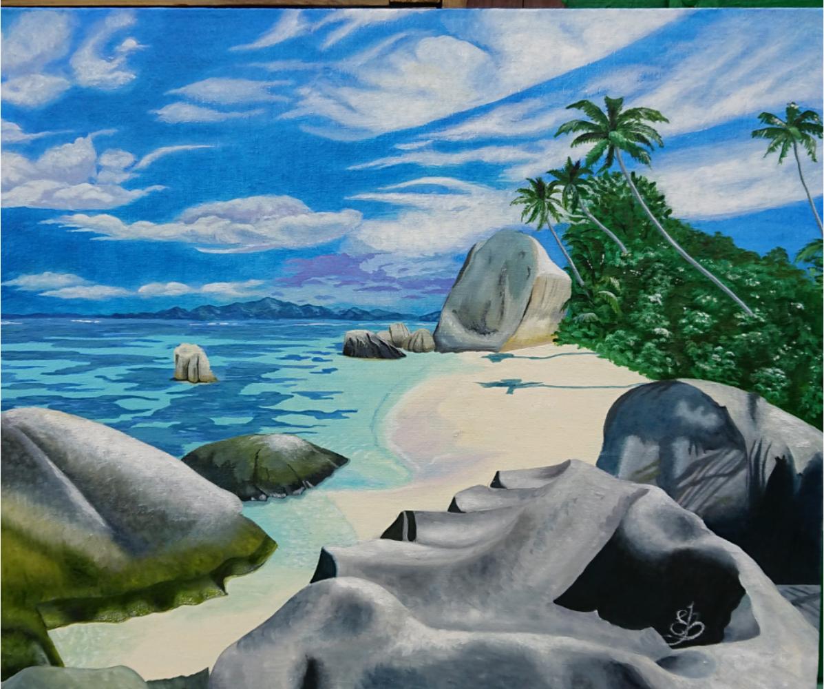 Evgeniya Sharygina. Seychelles paradise