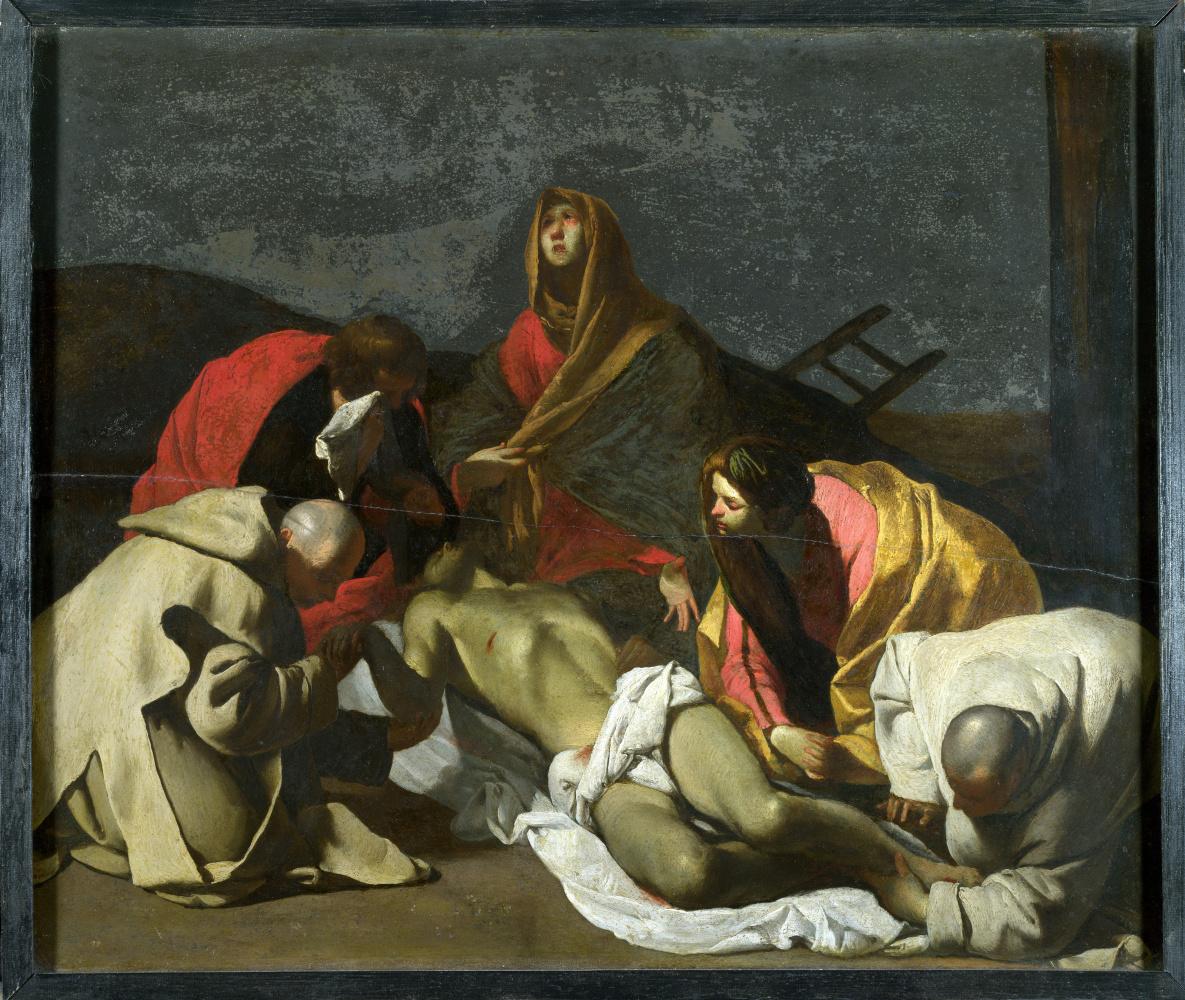 Массимо Станзион После. Монахи и святые женщины оплакивают мертвого Христа