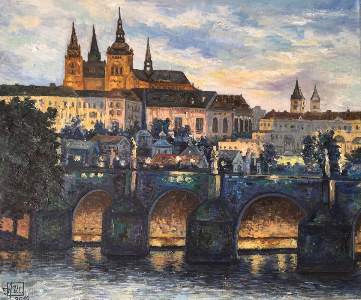 Andrey Leonidovich Shepel. Evening in Prague