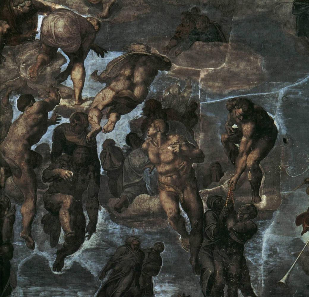 Микеланджело Буонарроти. Страшный суд (фрагмент)