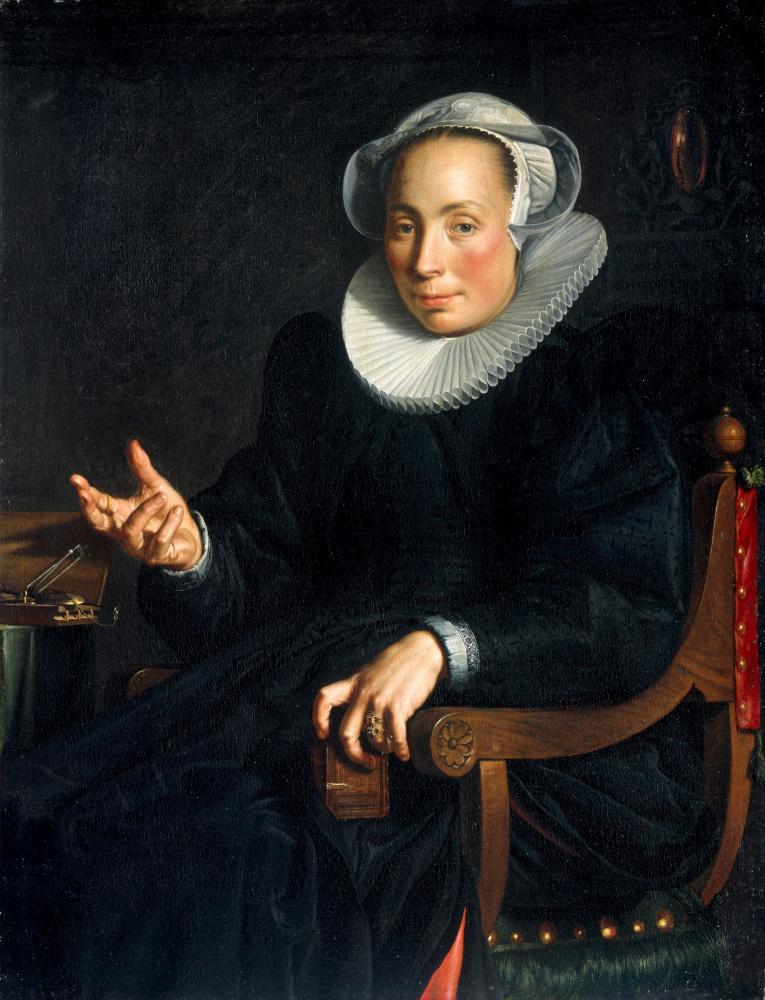 Иоахим Юттеваль. Портрет жены Кристины Юттеваль ван Хален