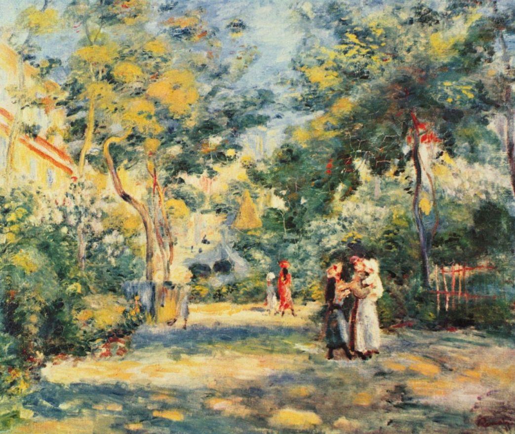 Пьер Огюст Ренуар. Фигуры в саду