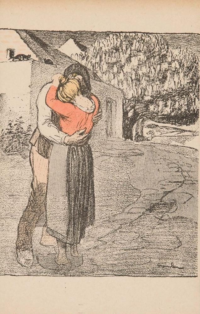 Theophile-Alexander Steinlen. Farewell lovers