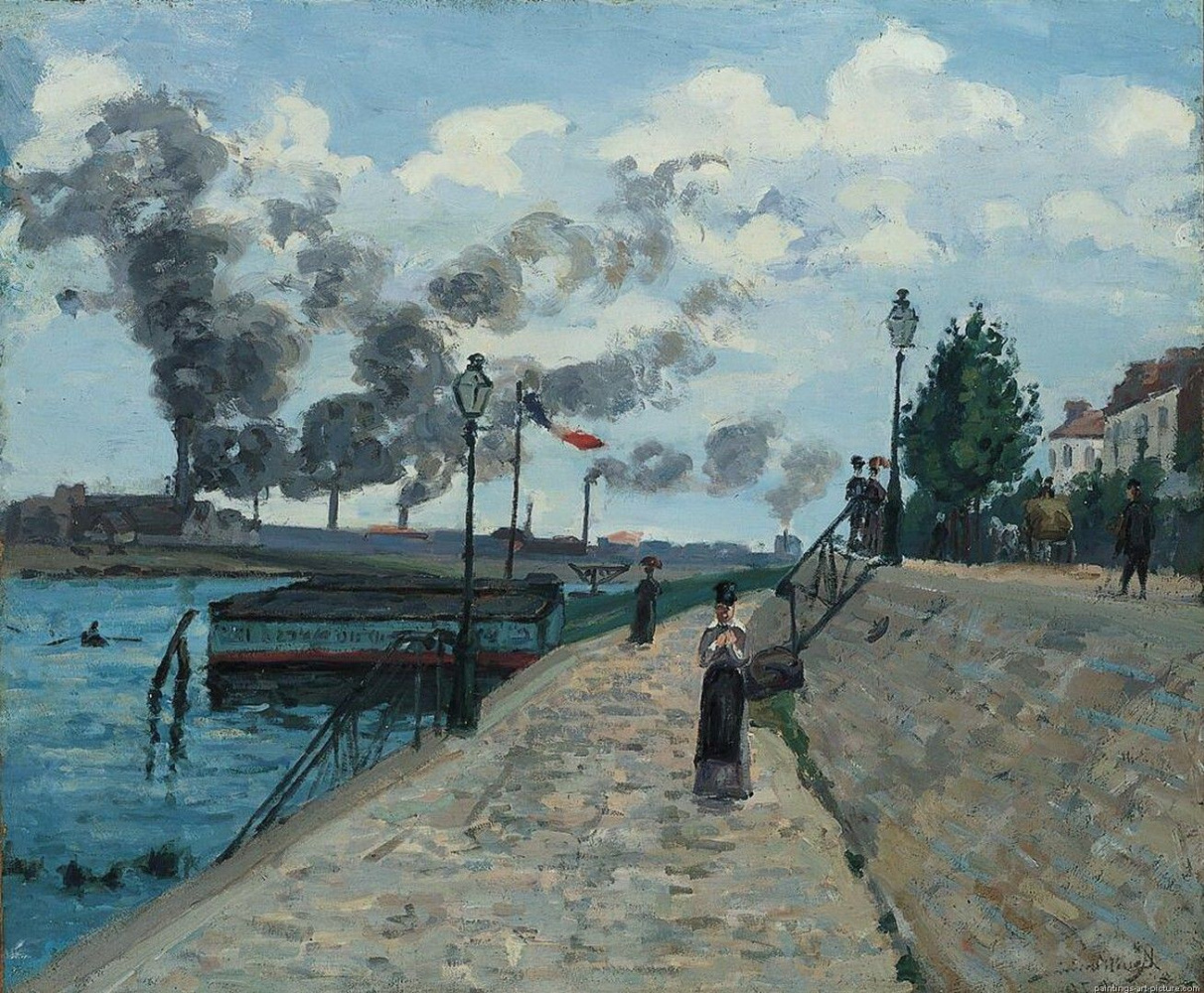 Armand Guillaumin. Hay in the area of the Sheraton (Dawn)