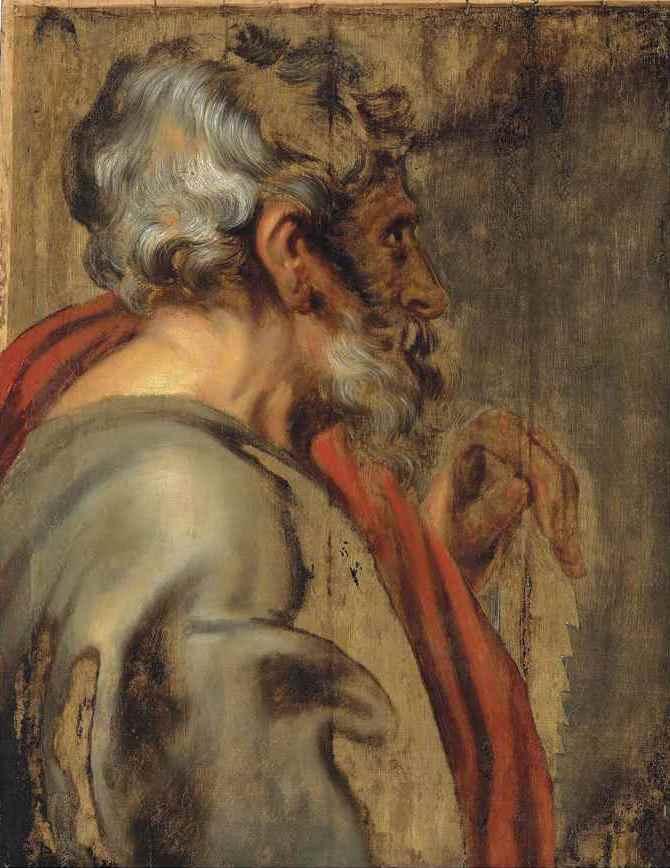 Anthony van Dyck. Saint Simon (unfinished)