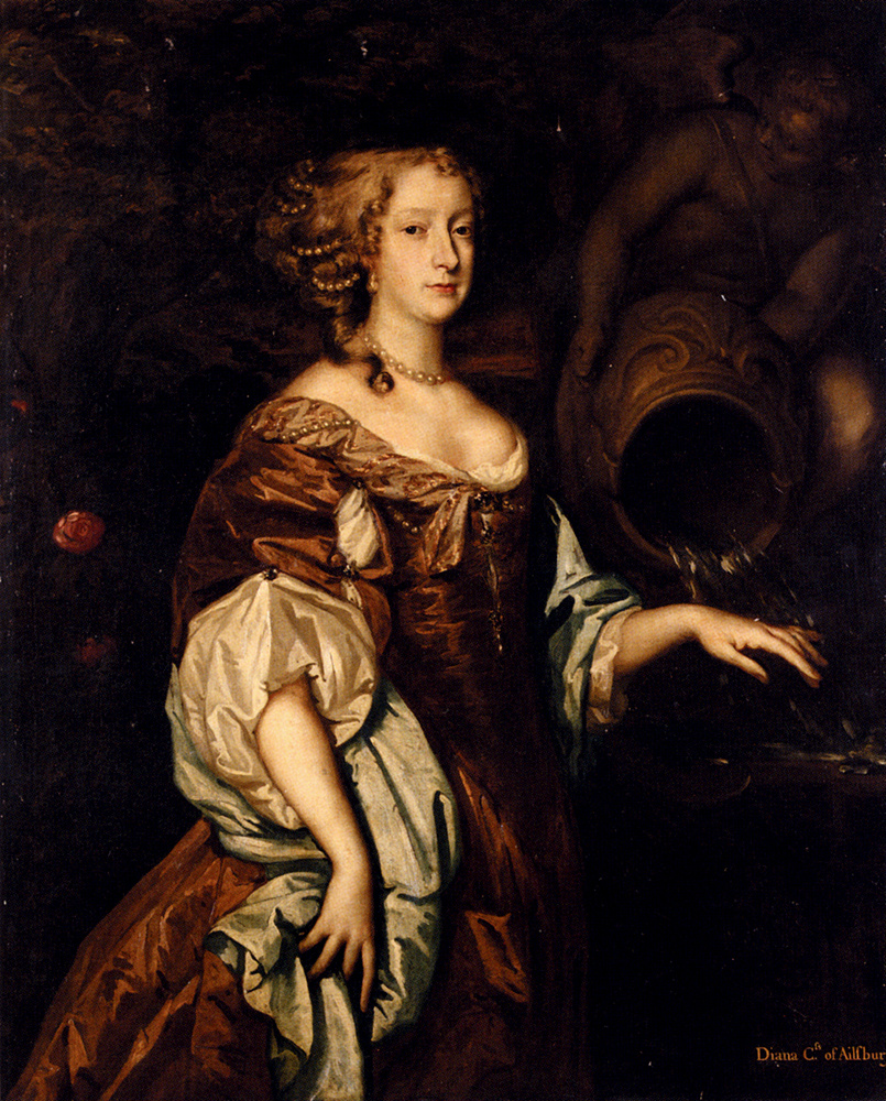 Sir peter leli. Portrait of Diana, Countess of Aylesbury