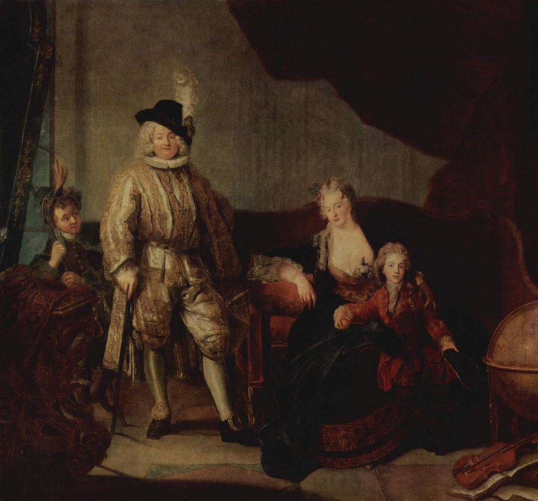 Anton Pesnia. Portrait of Baron von the Property with family
