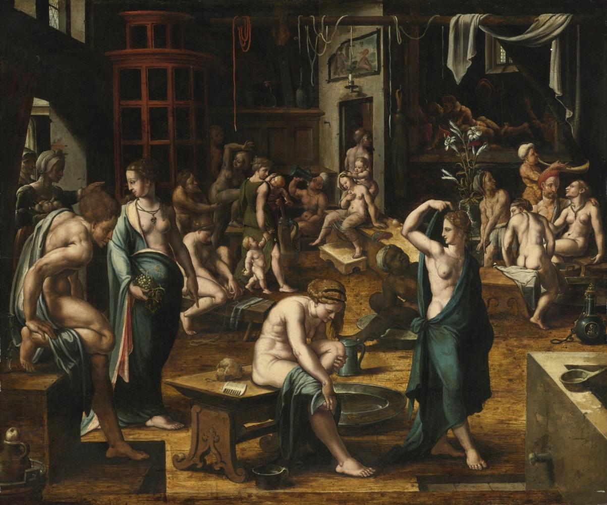 Неизвестный  художник. Нидерландская школа. 1540-1550 Баня.
