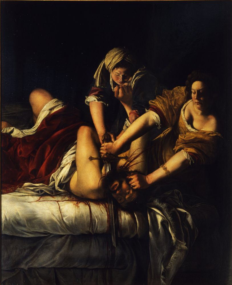 Artemisia Gentileschi. Judith Slaying Holofernes