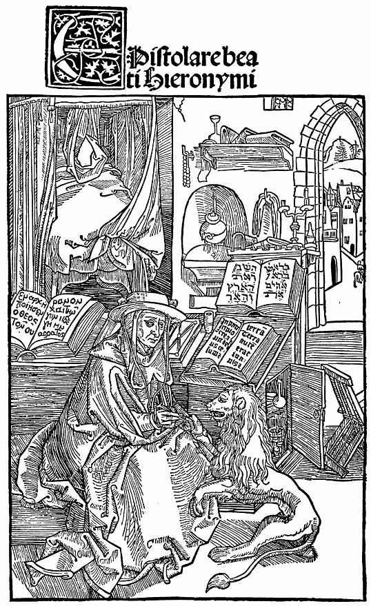 Альбрехт Дюрер. Святой Иероним, вынимающий колючку из лапы льва