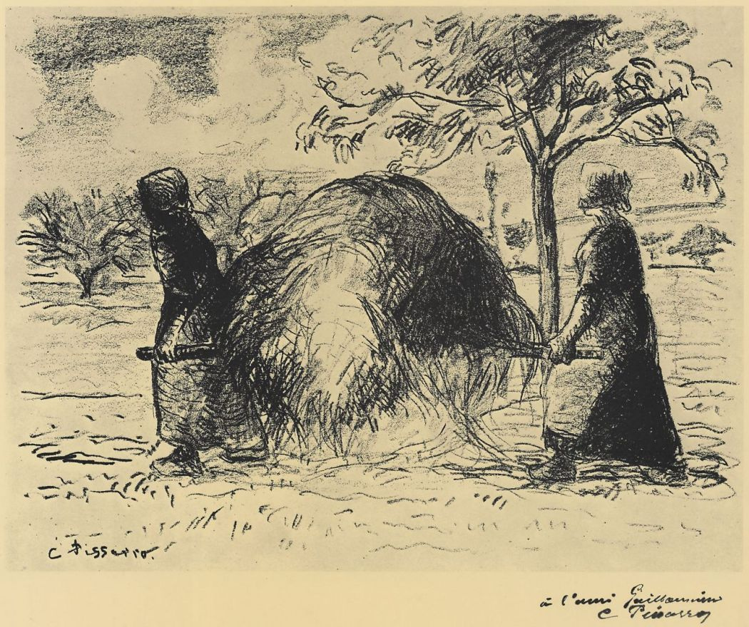 Камиль Писсарро. Женщины, несущие сено