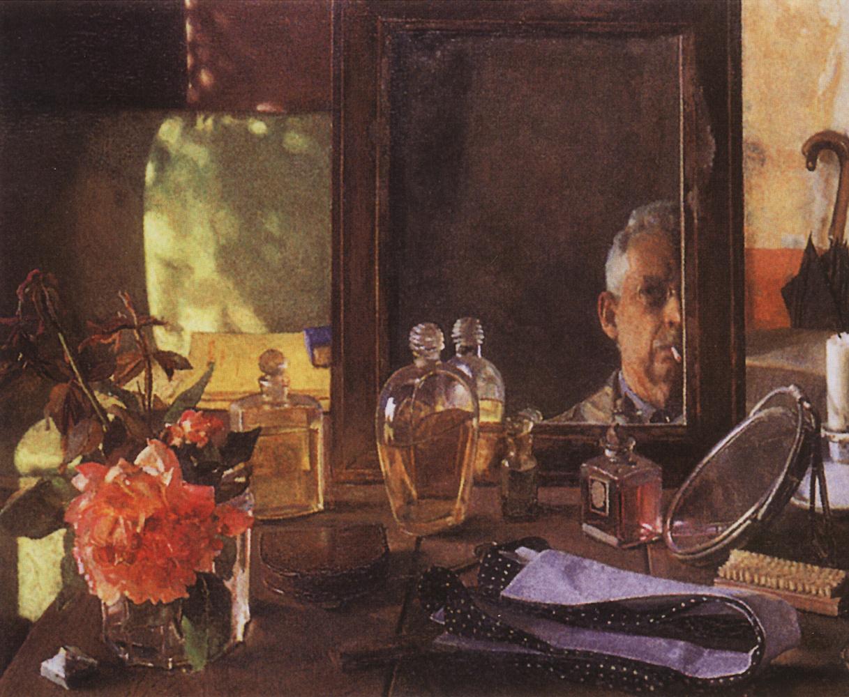 Constantin Somov. Self-portrait in the mirror