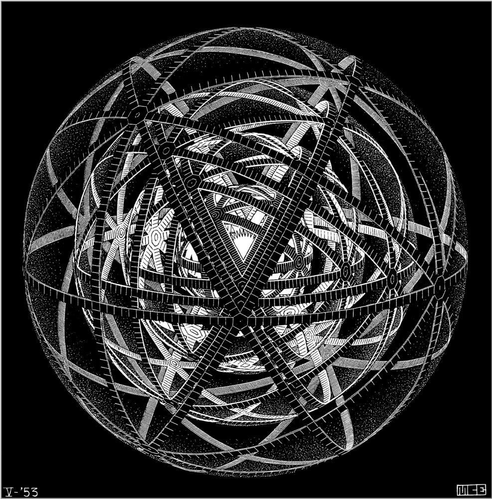 Maurits Cornelis Escher. Concentric rinds