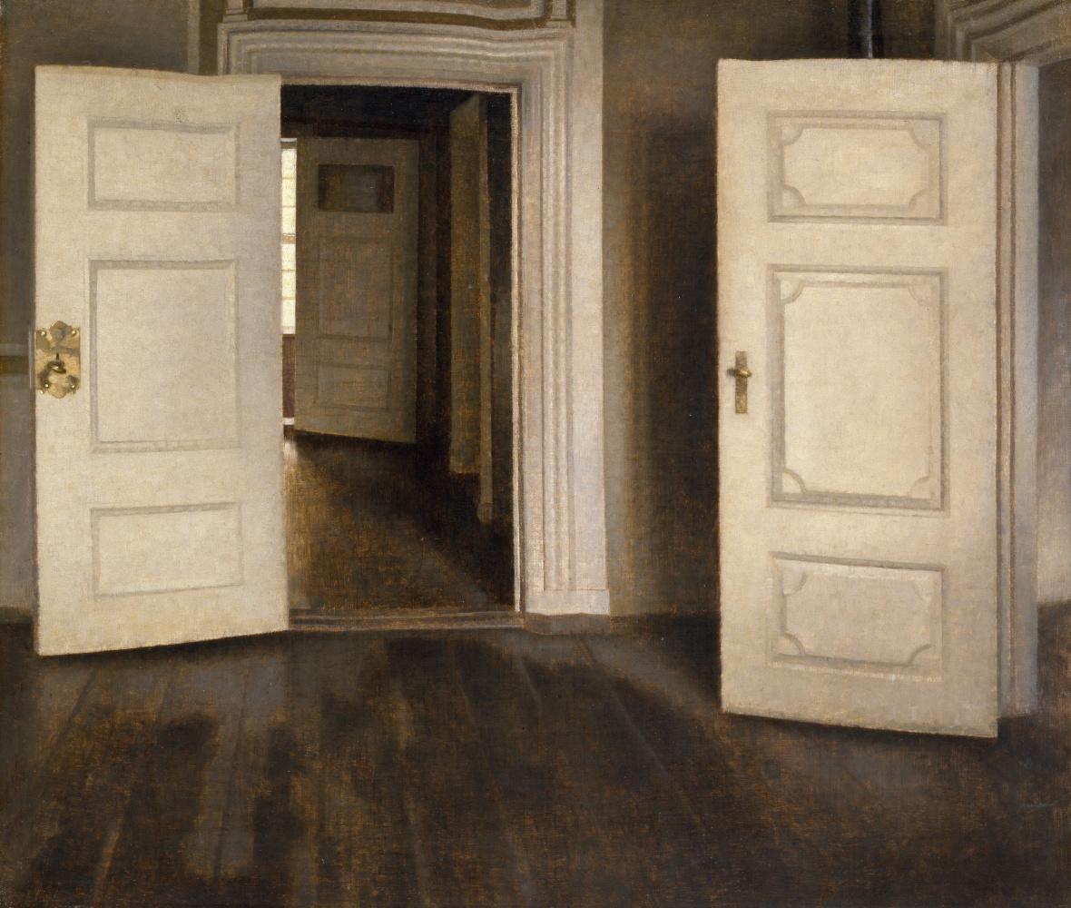 Вильгельм Хаммерсхёй. Открытые двери