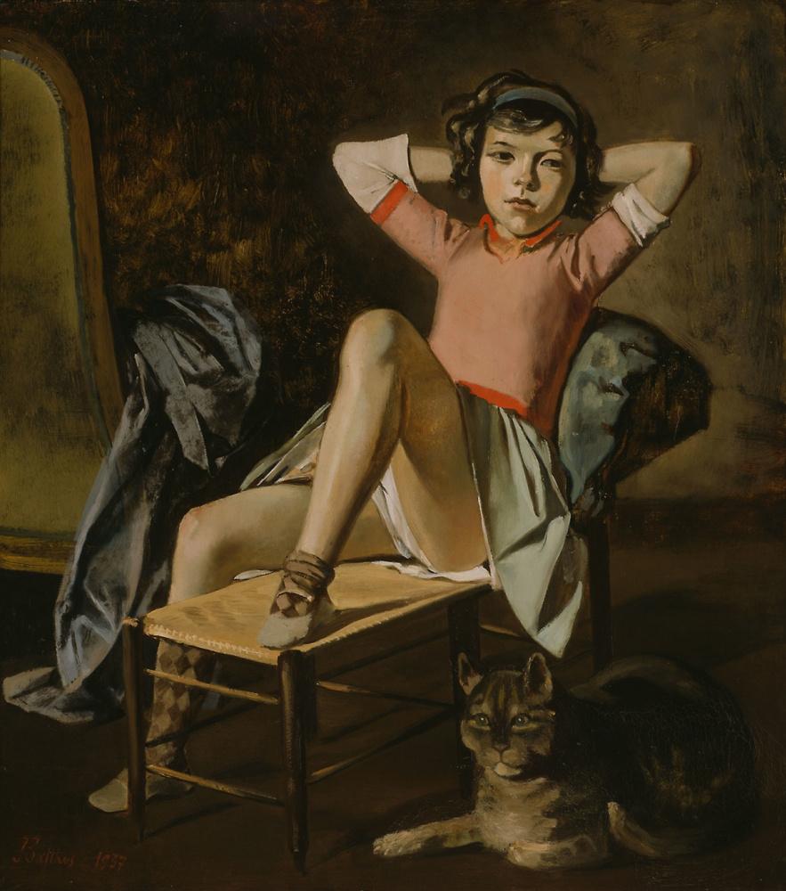 Бальтюс (Бальтазар Клоссовски де Рола). Девочка с котом