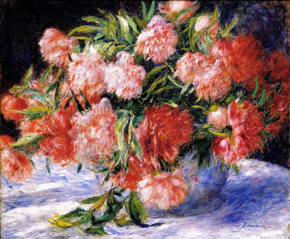 Pierre-Auguste Renoir. Peonies