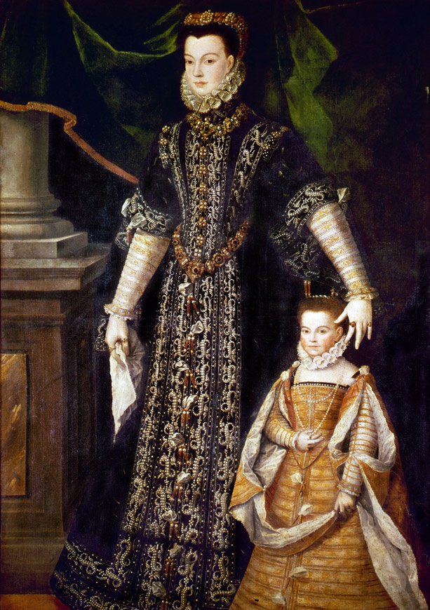 Sofonisba Anguissola. Portrait of Diana d'Andouine and her daughter Katharina