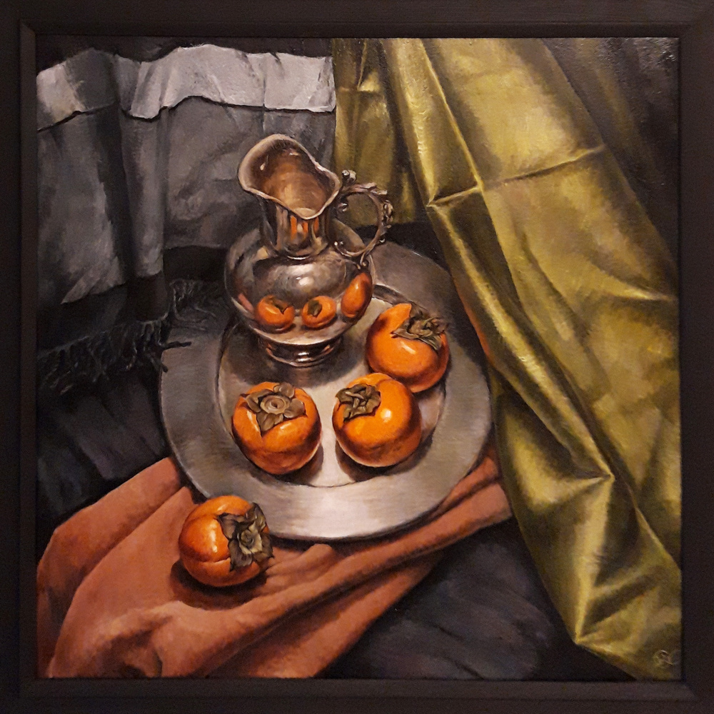 Olga Ray. Still life with persimmon