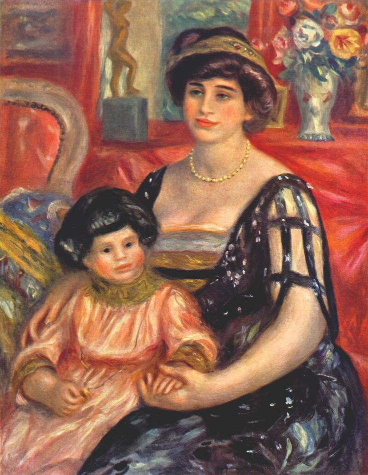 Pierre-Auguste Renoir. Portrait of Madame Goberville with her son Henry