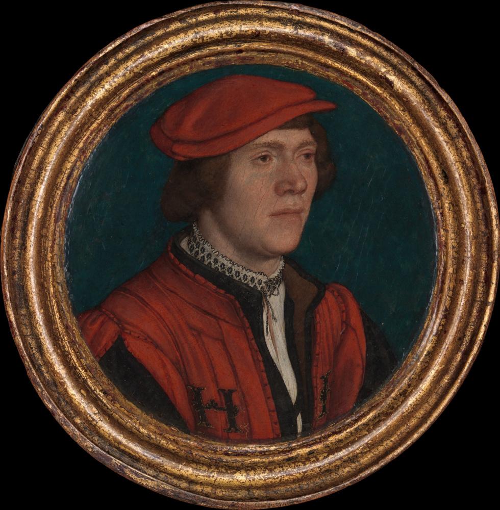 Ганс Гольбейн Младший. Портрет мужчины в красной шапке
