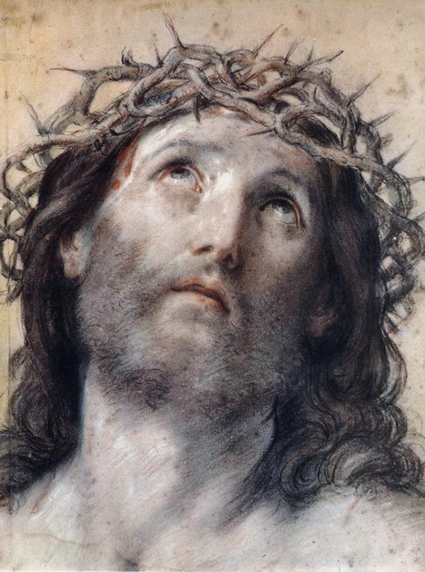 Гвидо Рени. Изображение Христа в терновом венце