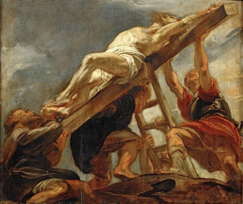 Питер Пауль Рубенс. Воздвижение креста (эскиз для погибшей фрески иезуитской церкви Антверпена)