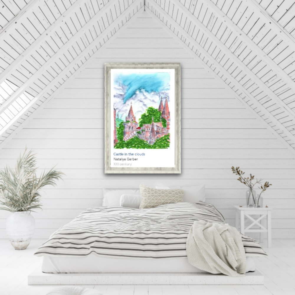 Natalya Garber. Castle in the clouds. Work for a romantic bedroom