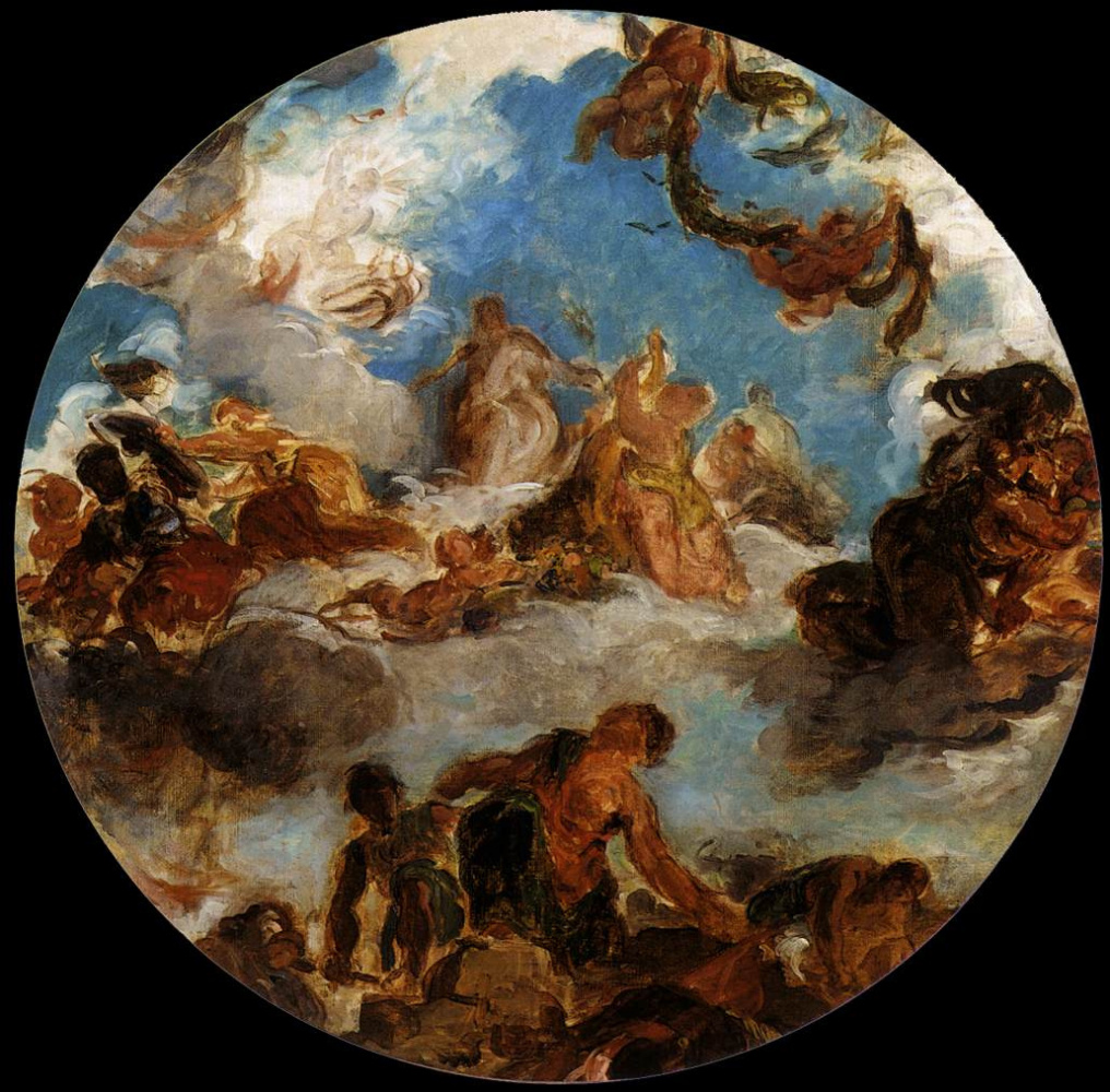 Eugene Delacroix. Sketch for Peace descends to earth