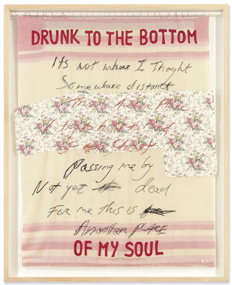 Tracey Emin. Drunk to the Bottom of My Soul