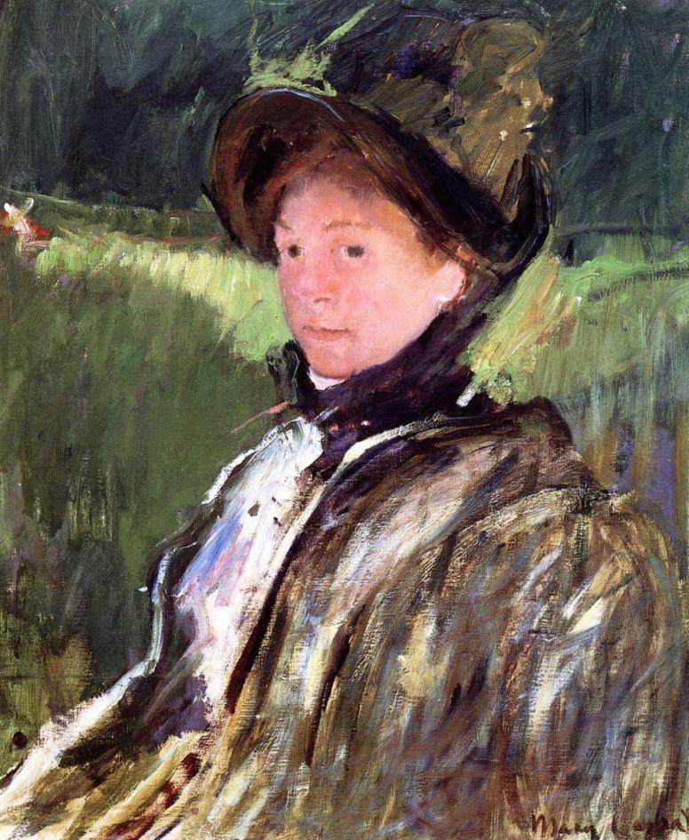 Мэри Кассат. Лидия Кессет в капоре и пальто