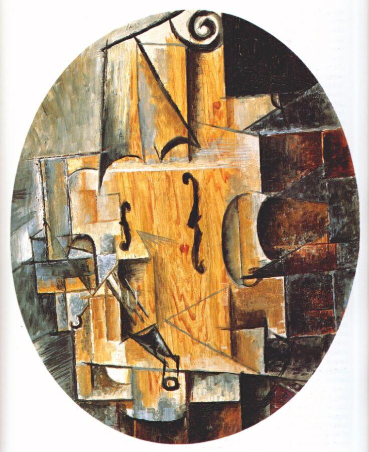 Пабло Пикассо. Натюрморт со скрипкой