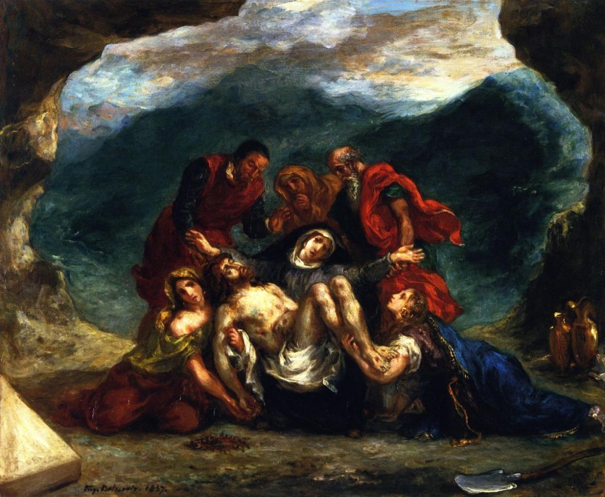 Eugene Delacroix. Mourning