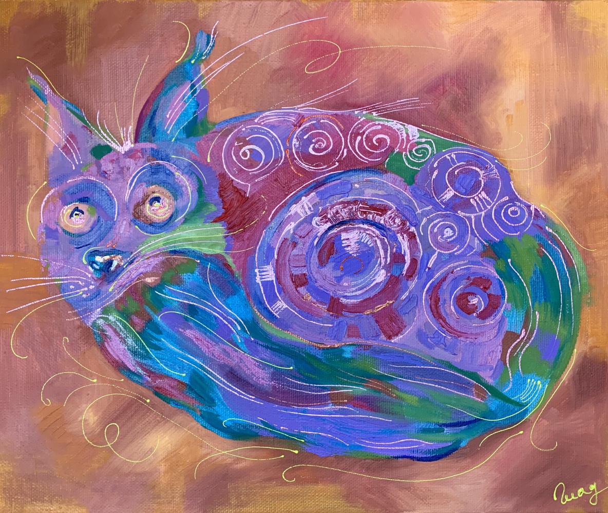 Ekaterina Gladysheva. The cat is afraid of a thunderstorm