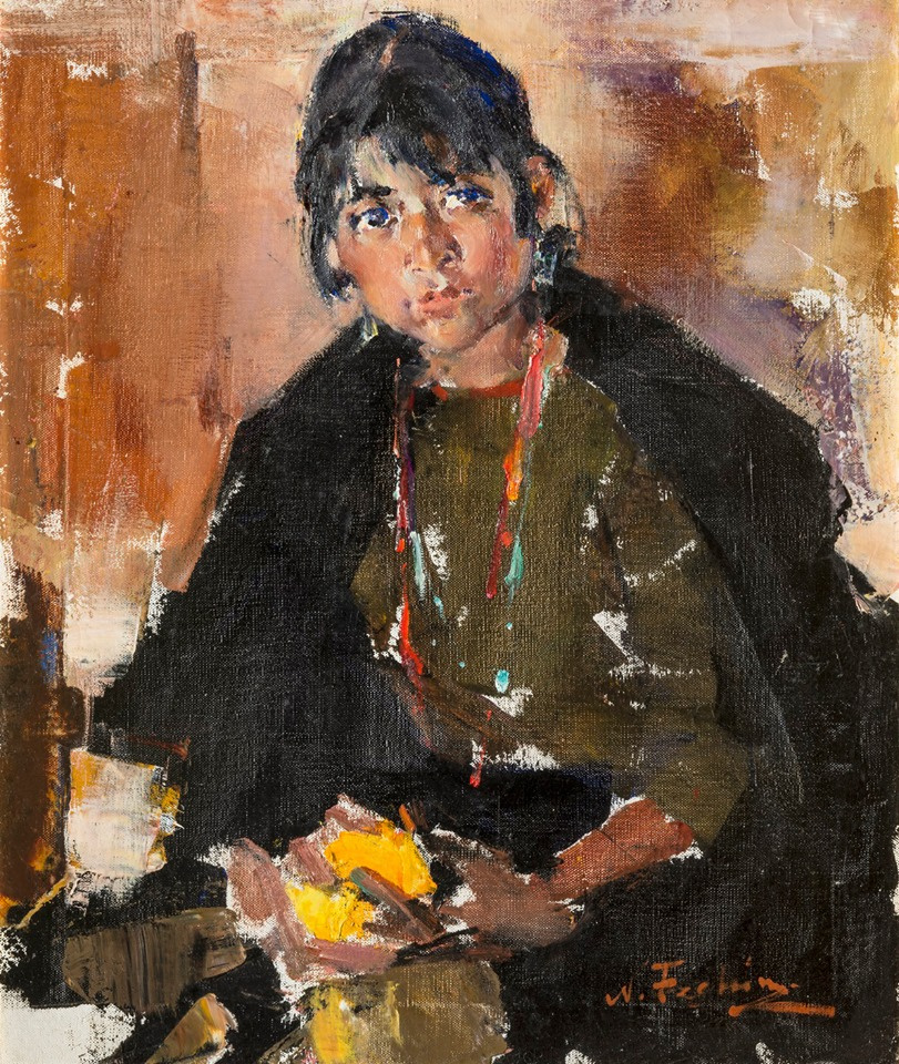 Nikolay Feshin. Portrait of a Taos Girl