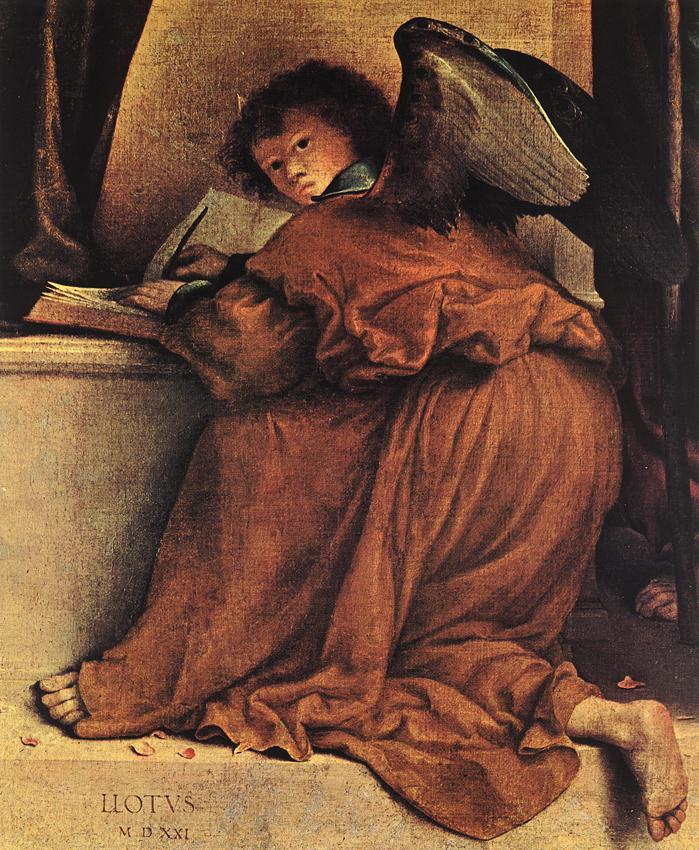 Lorenzo Lotto. Dark wings