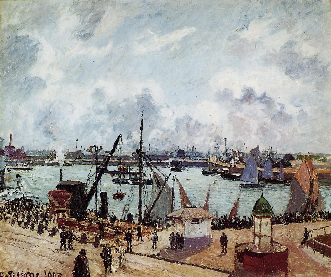 Camille Pissarro. The inner Harbor, the port of Le Havre.
